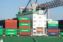 Unverwüstliches Containerschiff Lizenzfreie Stockbilder