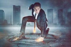 Uomo d'affari Superhero Fotografia Stock