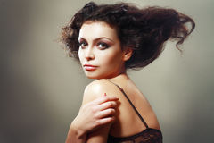 Updo hairstyle Stock Photography