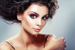Updo hairstyle Royalty Free Stock Photos