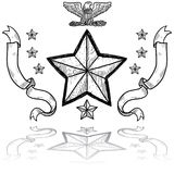 US Army Insignia with Wreath Royalty Free Stock Photography