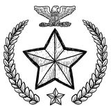 US Army insignia with wreath Stock Photos