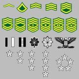US Army rank insignia Royalty Free Stock Image