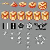 US Marine Corp Rank Insignia - Fabric Texture Stock Photos
