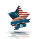 USA star in national flag. Stock Photos