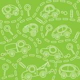 Véhicules sur la route Configuration sans joint Image libre de droits