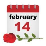 Valentine day calendar Stock Image