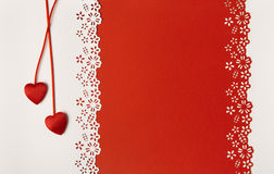 Valentine Day Hearts Red Background. Wedding Greeting Card Royalty Free Stock Images