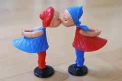 Valentine puppets couple Royalty Free Stock Photography