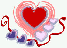Valentine's design Royalty Free Stock Images