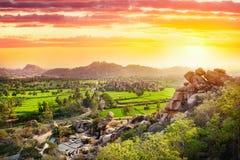 Valle di Hampi in India Fotografia Stock