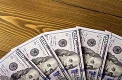 Valor nominal de cinco contas de $ 100 Fotos de Stock Royalty Free