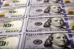 Valor nominal de muitas denominações de $ 100 Foto de Stock