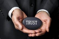 Van bedrijfs vertrouwenshanden Ethiek Stock Foto