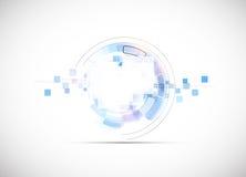 Van het de bedrijfs nieuwe technologieconcept van de oneindigheidscomputer achtergrond Stock Afbeelding