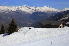 Vancise express, Winter landscape in the ski resort of La Plagne, France Stock Photos