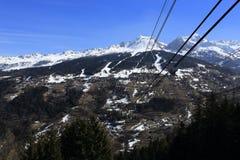Vancise express, Winter landscape in the ski resort of La Plagne, France Royalty Free Stock Image