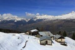 Vancise express, Winter landscape in the ski resort of La Plagne, France Stock Photography