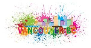 Vancouver BC Skyline Paint Splatter Vector Illustration Royalty Free Stock Photos