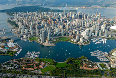 Vancouver from the sky Stock Images