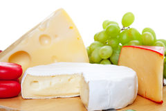Variety of Cheeses Stock Image