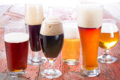 Variety of different beers Stock Photography