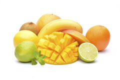 Variety of fruits Stock Photography
