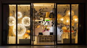 A variety of lighting  In a lighting shop,Commercial lighting,  Home Furnishing lighting Royalty Free Stock Photography