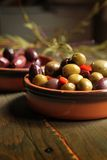 Variety of olives Royalty Free Stock Photography