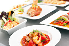 Variety of Thai Foods Royalty Free Stock Photography