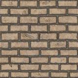 Vecchio muro di mattoni marrone chiaro senza cuciture (dipinto a mano) Fotografie Stock