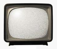 Vecchio retro disturbo della TV Fotografia Stock Libera da Diritti