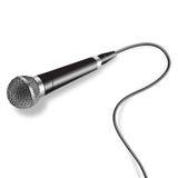 Vecteur de microphone Images libres de droits