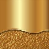 Vector абстрактная предпосылка золота с кривой и фольгой Стоковые Фото