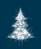 Vector abstract Christmas tree stars shape. Royalty Free Stock Photos