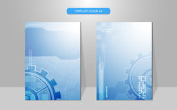 Vector abstract technology system working cover design background Royalty Free Stock Photography