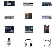 Vector audio electronics icon set Royalty Free Stock Image