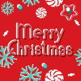 Vector banner Merry Christmas Stock Image