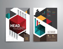 Vector brochure, flyer, magazine cover booklet poster design. Stock Photography