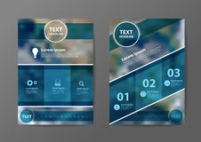 Vector business brochure flyer design layout template Royalty Free Stock Photo