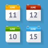 Vector Calendar Icon Set Flat Design Royalty Free Stock Images