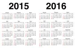 Vector calendar template Royalty Free Stock Photography