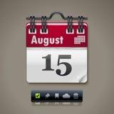Vector calendar XXL icon Stock Image