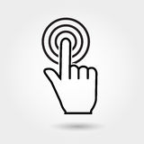 Vector check mark icon, touch icon, flat icons Stock Images