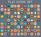 Vector collection of colorful flat business and finance icons. Stock Images