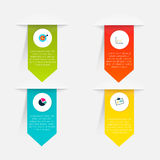 Vector colorful info graphics Stock Photos