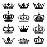 Vector Crown Set Royalty Free Stock Photography