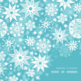 Vector decorative frost Christmas snowflake Stock Photography