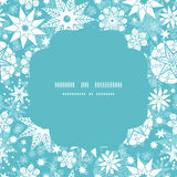 Vector decorative frost Christmas snowflake Stock Photos