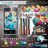 Vector design set of infographic elements. World map and information graphics. Stock Photo